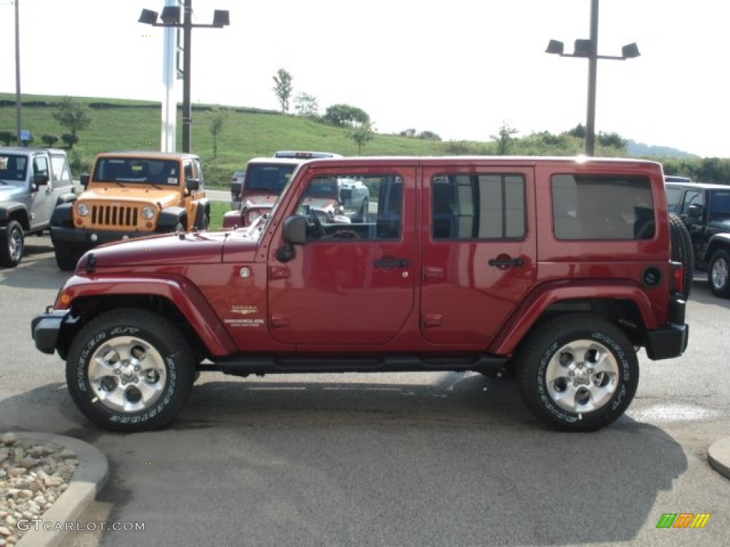 Deep Cherry Red Crystal Pearl 2013 Jeep Wrangler Unlimited
