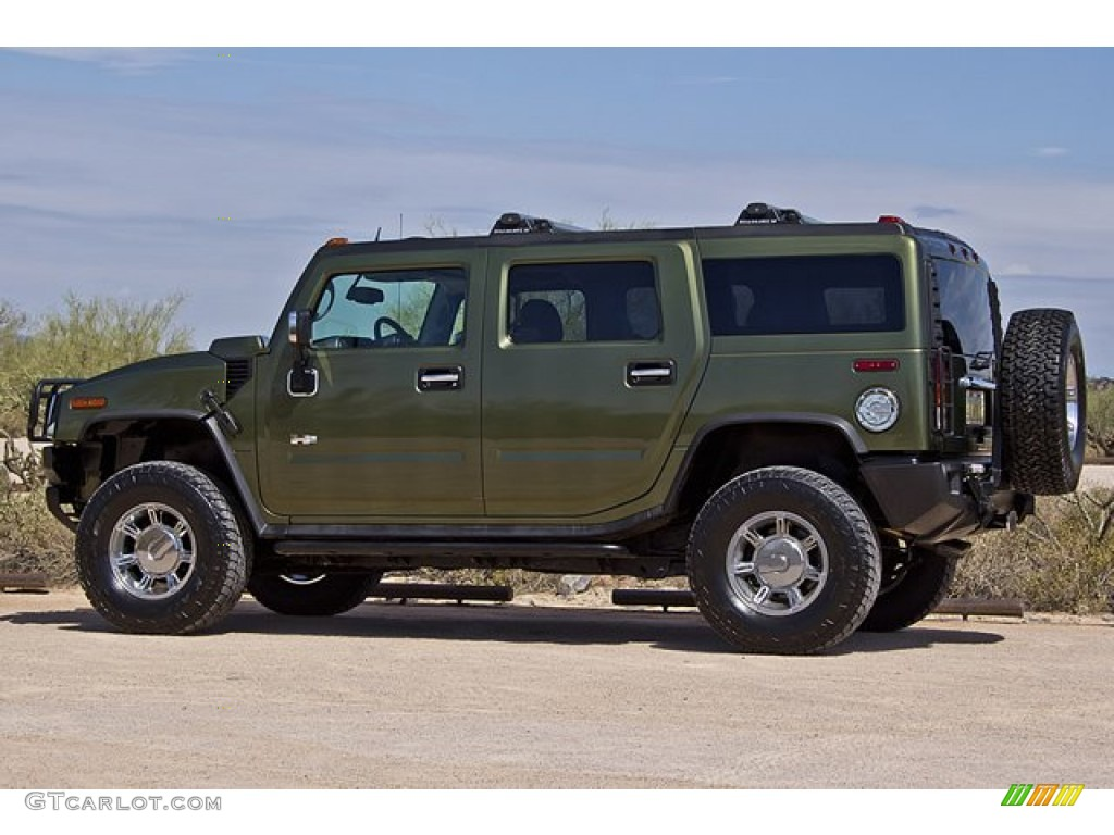 Sage Green Metallic 2004 Hummer H2 Suv Exterior Photo