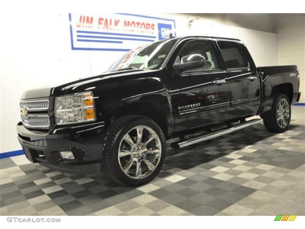 2013 Silverado 1500 LTZ Crew Cab 4x4 - Black / Light Titanium/Dark Titanium photo #1