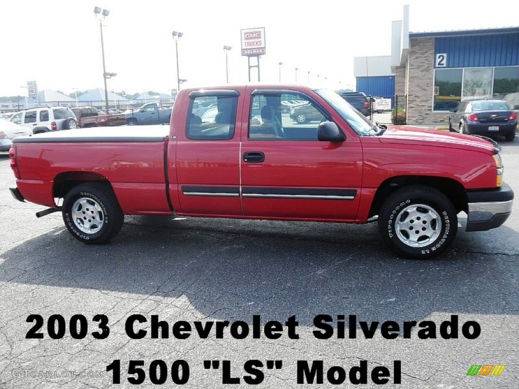 2003 victory red chevrolet silverado 1500 ls extended cab 68708002 car color. Black Bedroom Furniture Sets. Home Design Ideas