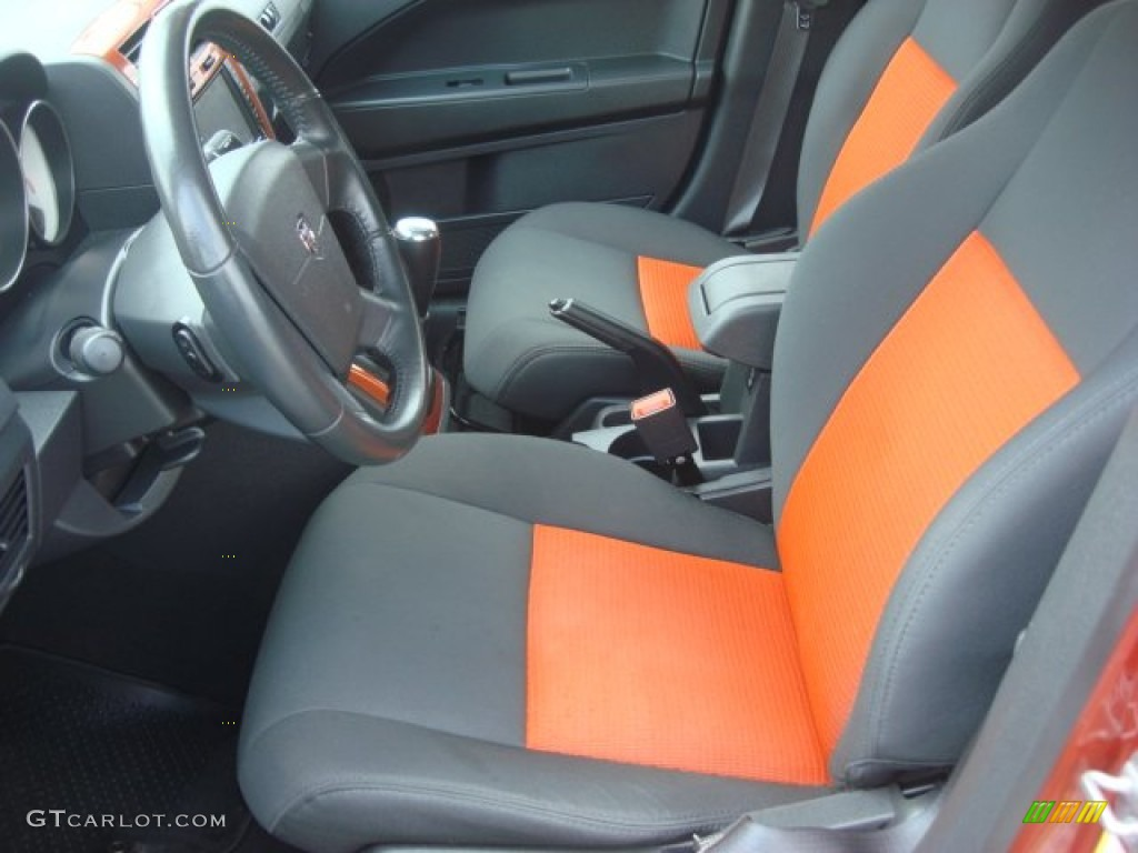 dark slate gray orange interior 2009 dodge caliber r t photo 68732056. Black Bedroom Furniture Sets. Home Design Ideas