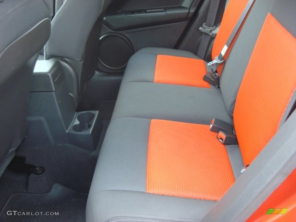 dark slate gray orange interior 2009 dodge caliber r t photo 68732062. Black Bedroom Furniture Sets. Home Design Ideas