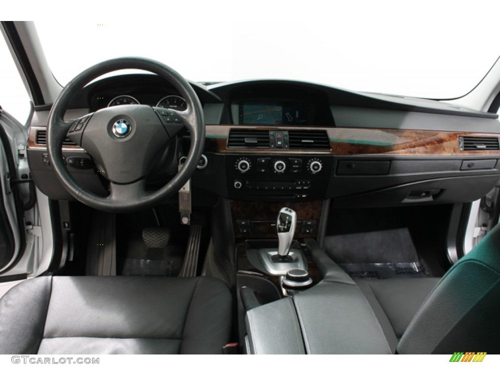2008 BMW 5 Series 535xi Sedan Black Dakota Leather Dashboard Photo