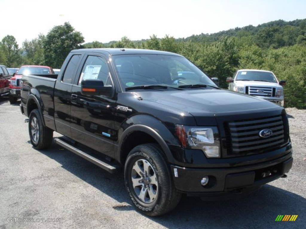 Tuxedo black metallic 2012 ford f150 fx4 supercab 4x4 exterior photo 68737018
