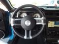 2010 Ford Mustang Charcoal Black/Grabber Blue Interior Steering Wheel Photo