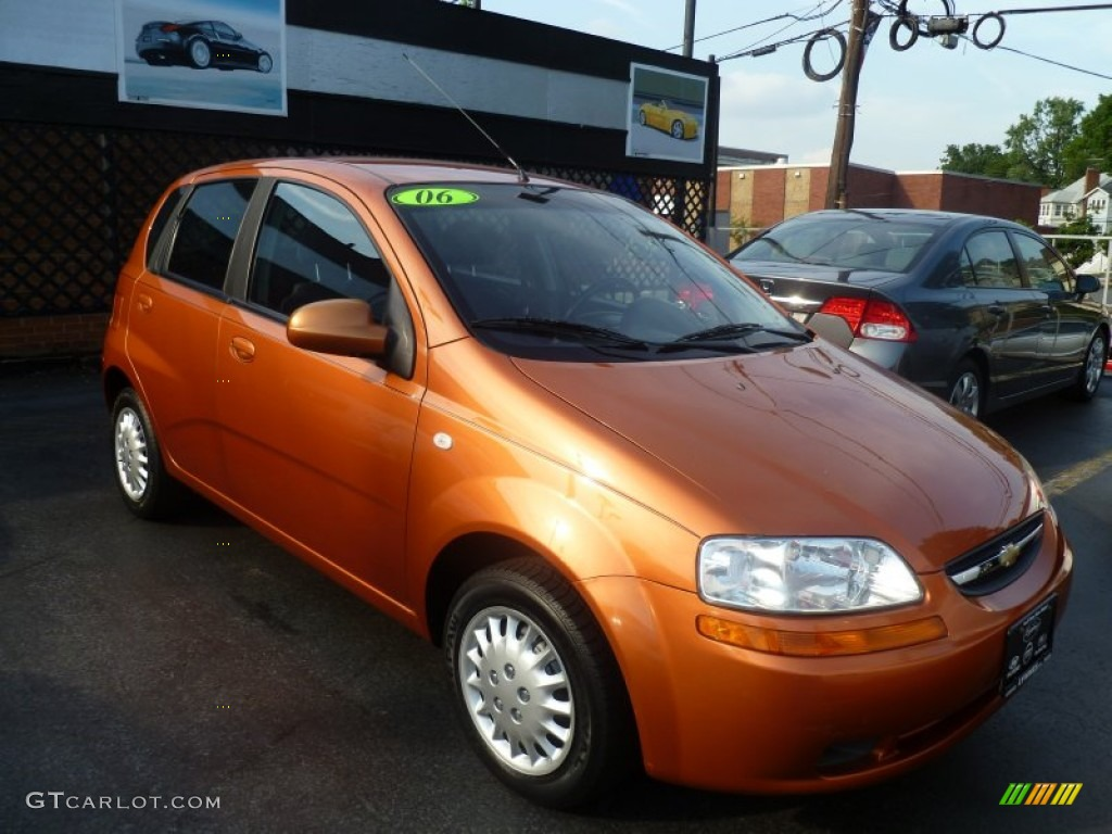 Spicy Orange 2006 Chevrolet Aveo Ls Hatchback Exterior