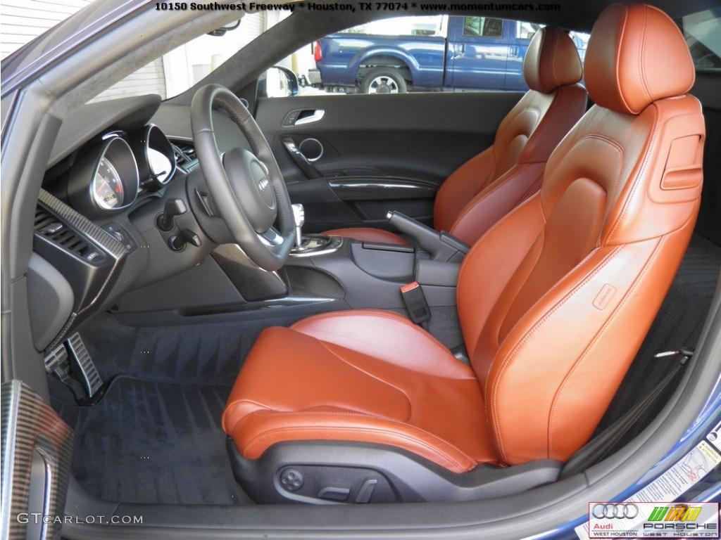 Fine Nappa Tuscan Brown Leather Interior 2009 Audi R8 4 2
