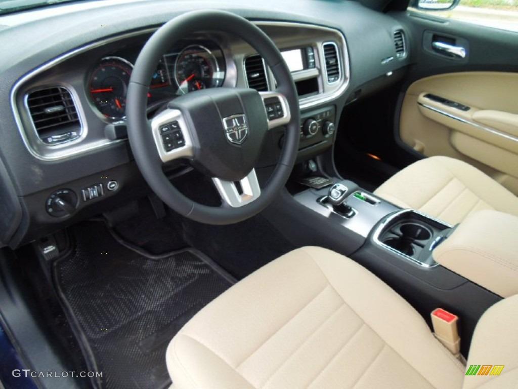 Black Light Frost Beige Interior 2012 Dodge Charger Se Photo 68749252