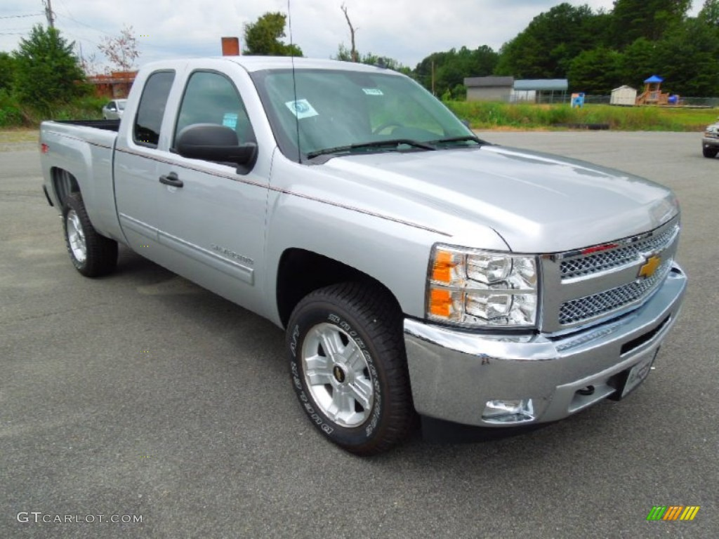 2012 Silverado 1500 LT Extended Cab 4x4 - Silver Ice Metallic / Ebony photo #1