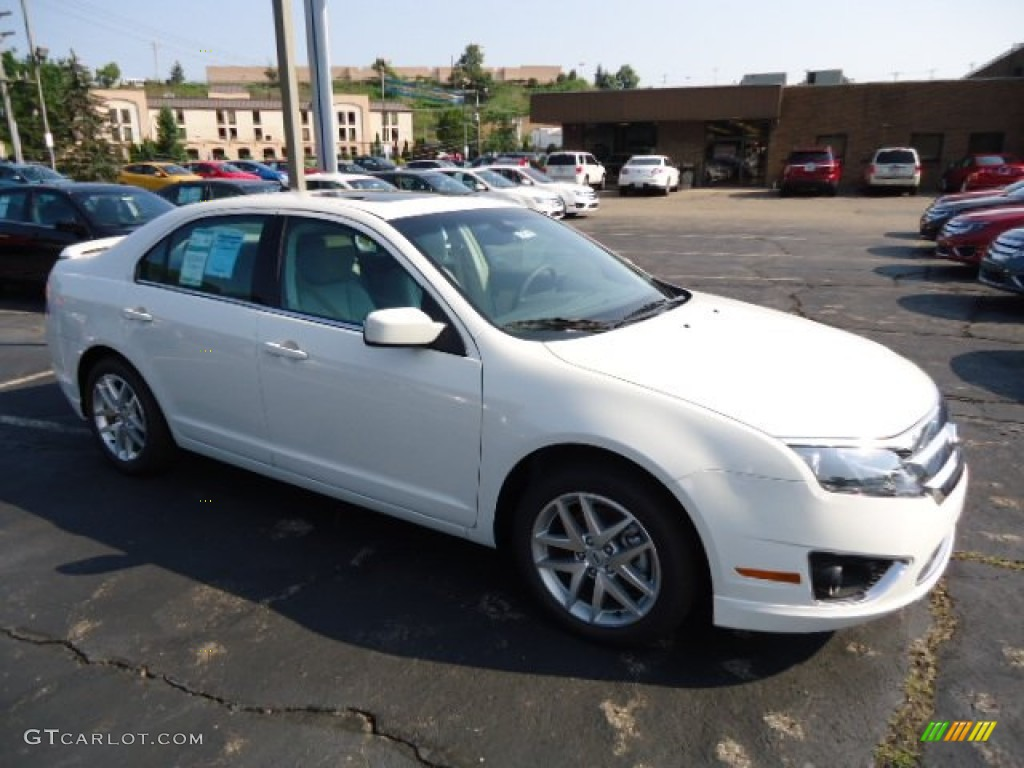 2012 White Suede Ford Fusion Sel V6 Awd 68771940 Gtcarlot Com Car Color Galleries