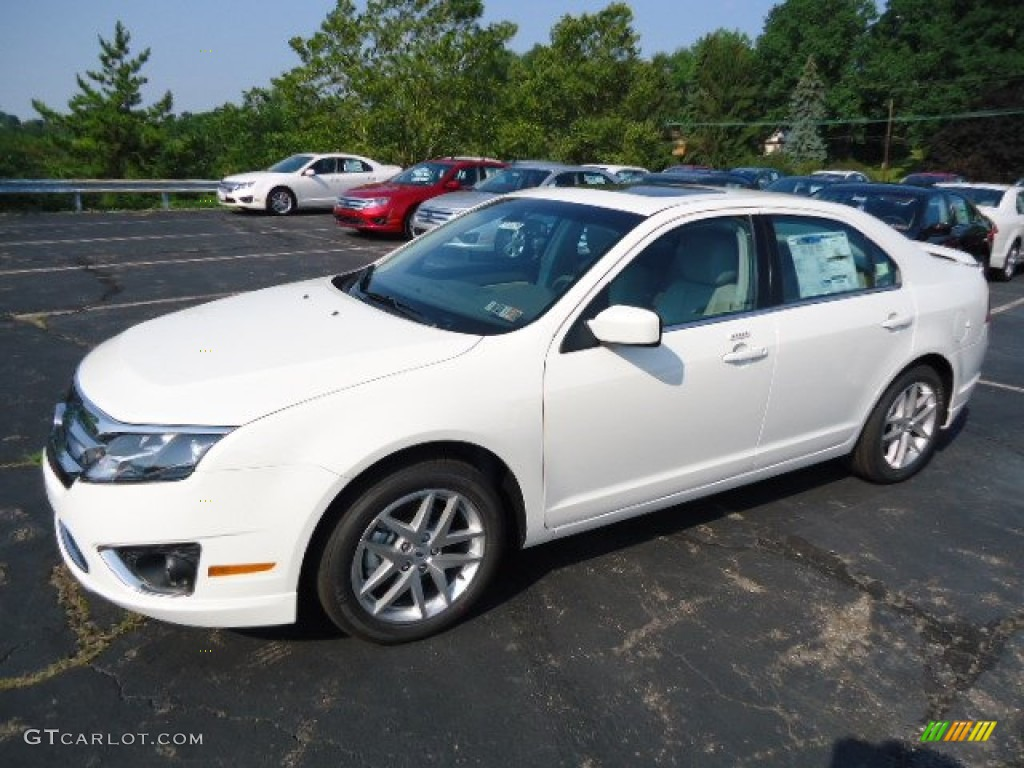 White Suede 2012 Ford Fusion Sel V6 Awd Exterior Photo