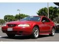 2000 Laser Red Metallic Ford Mustang V6 Coupe  photo #9