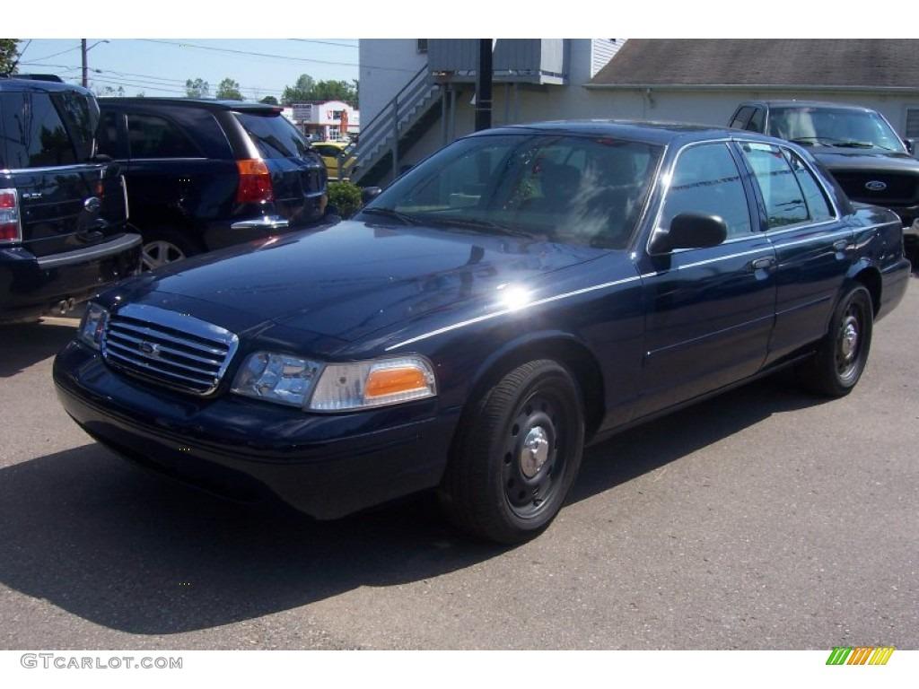 2004 Dark Blue Pearl Metallic Ford Crown Victoria Police ...  |Blue Ford Interceptor