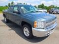 2012 Blue Granite Metallic Chevrolet Silverado 1500 LS Extended Cab 4x4  photo #2