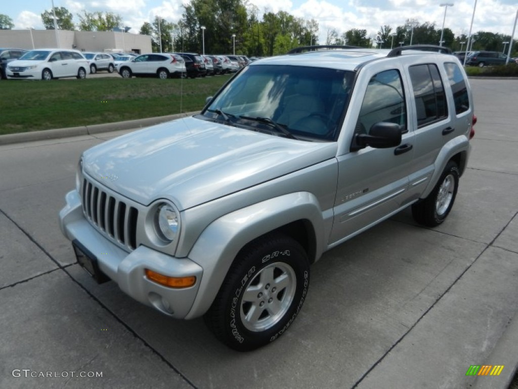 bright silver metallic 2003 jeep liberty limited 4x4 exterior photo 68792342. Black Bedroom Furniture Sets. Home Design Ideas