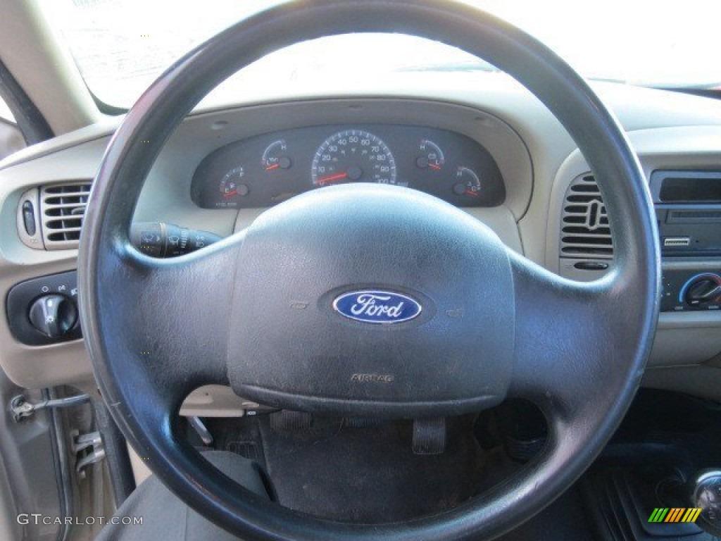 2003 Ford F150 Xl Regular Cab Medium Parchment Beige Steering Wheel L V8 Photo 68796500