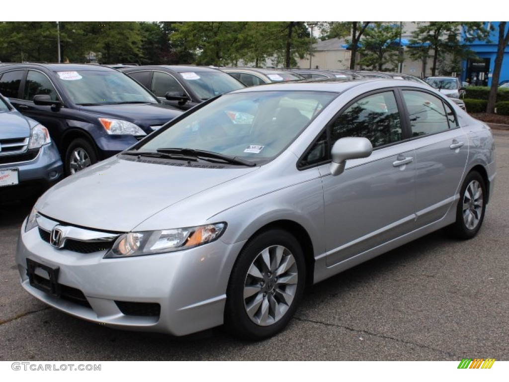 alabaster silver metallic 2009 honda civic ex l sedan exterior photo 68805188. Black Bedroom Furniture Sets. Home Design Ideas