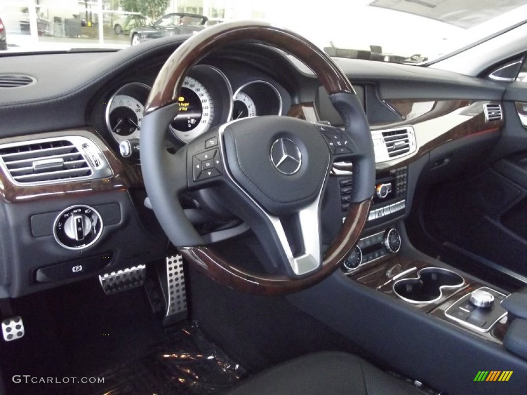 AMG Black Interior 2013 Mercedes-Benz CLS 550 Coupe Photo #68808703 ...