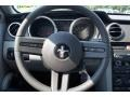 2008 Ford Mustang Charcoal Black/Dove Interior Steering Wheel Photo