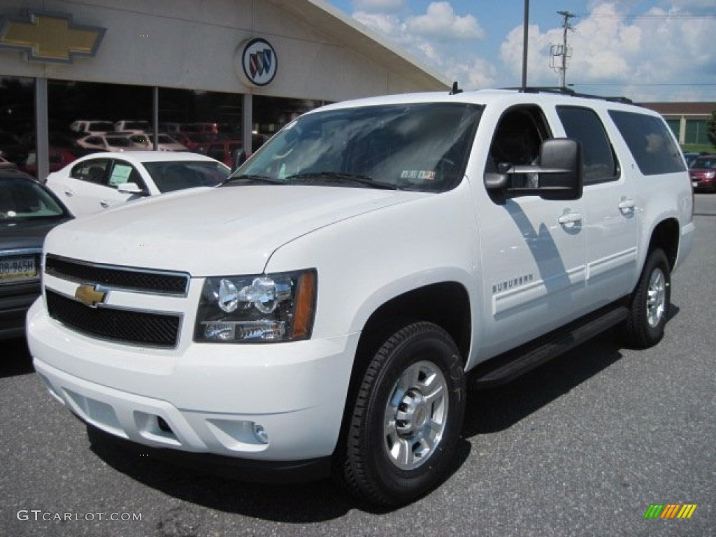 Summit White 2013 Chevrolet Suburban 2500 LT 4x4 Exterior Photo