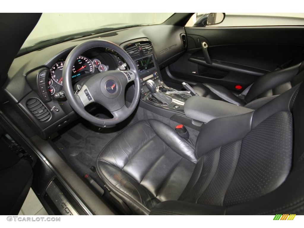 Ebony Black Interior 2011 Chevrolet Corvette Grand Sport