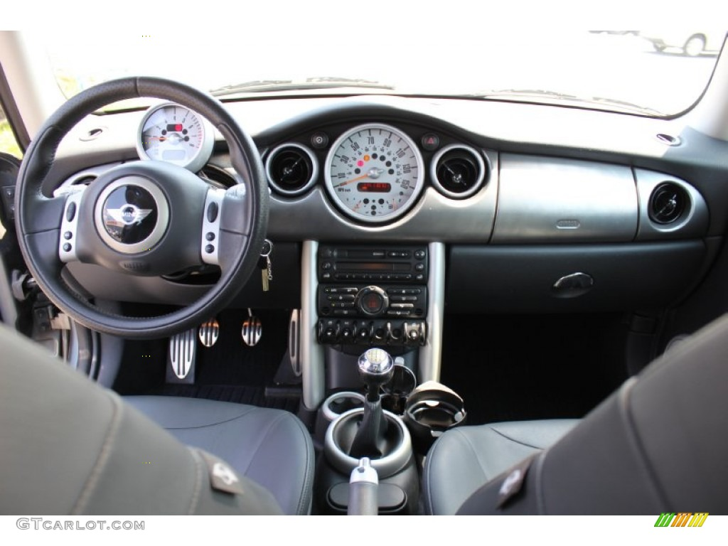 2004 Mini Cooper S Hardtop Panther Black Dashboard Photo