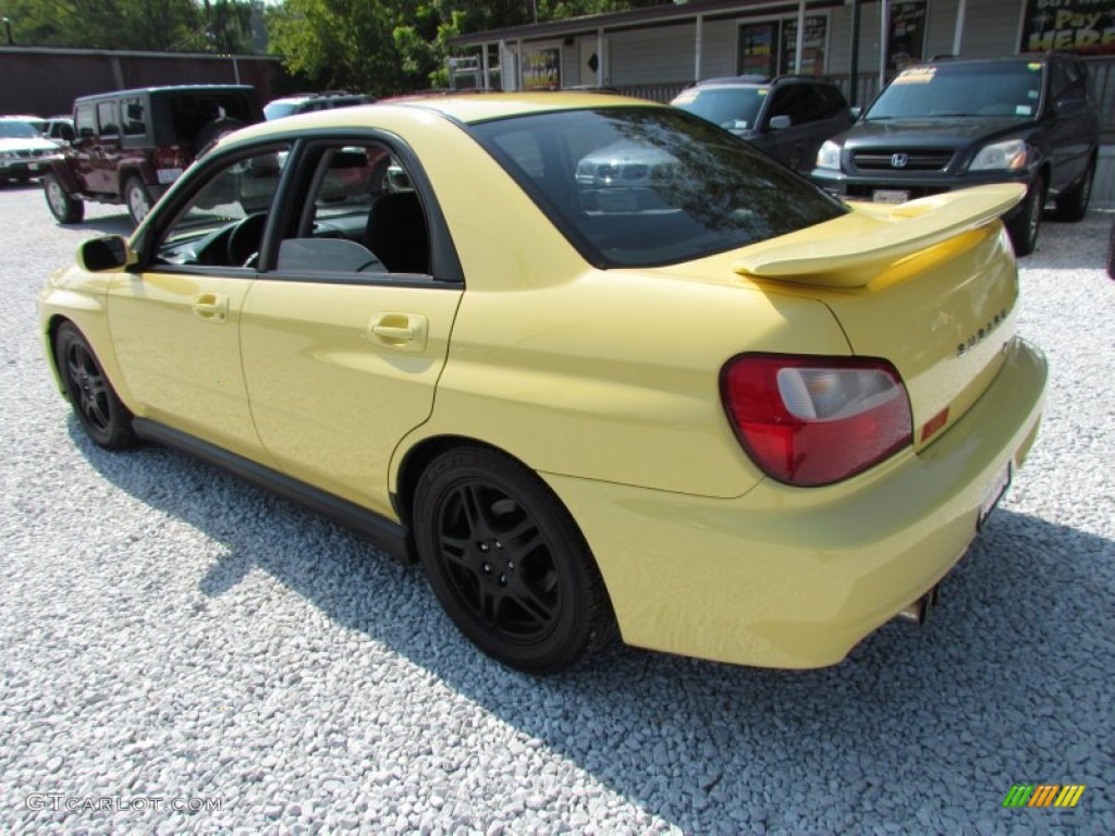 Blaze Yellow 2002 Subaru Impreza WRX Sedan Exterior Photo #68844309