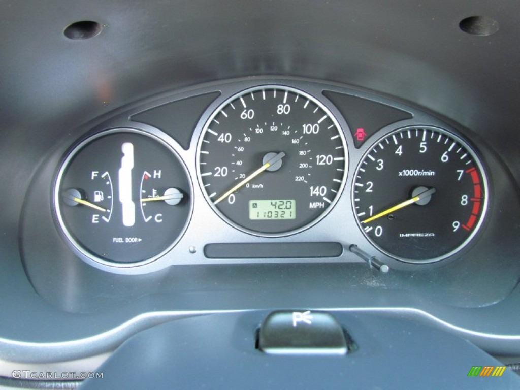 2002 Subaru Impreza WRX Sedan Gauges Photos