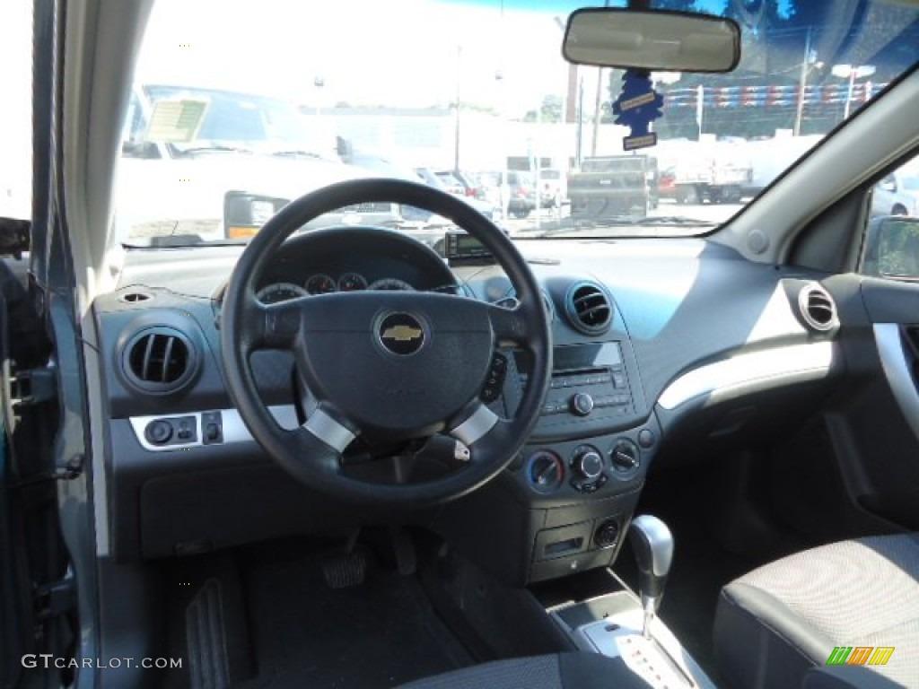 2010 Chevrolet Aveo LT Sedan Charcoal Dashboard Photo #68845792