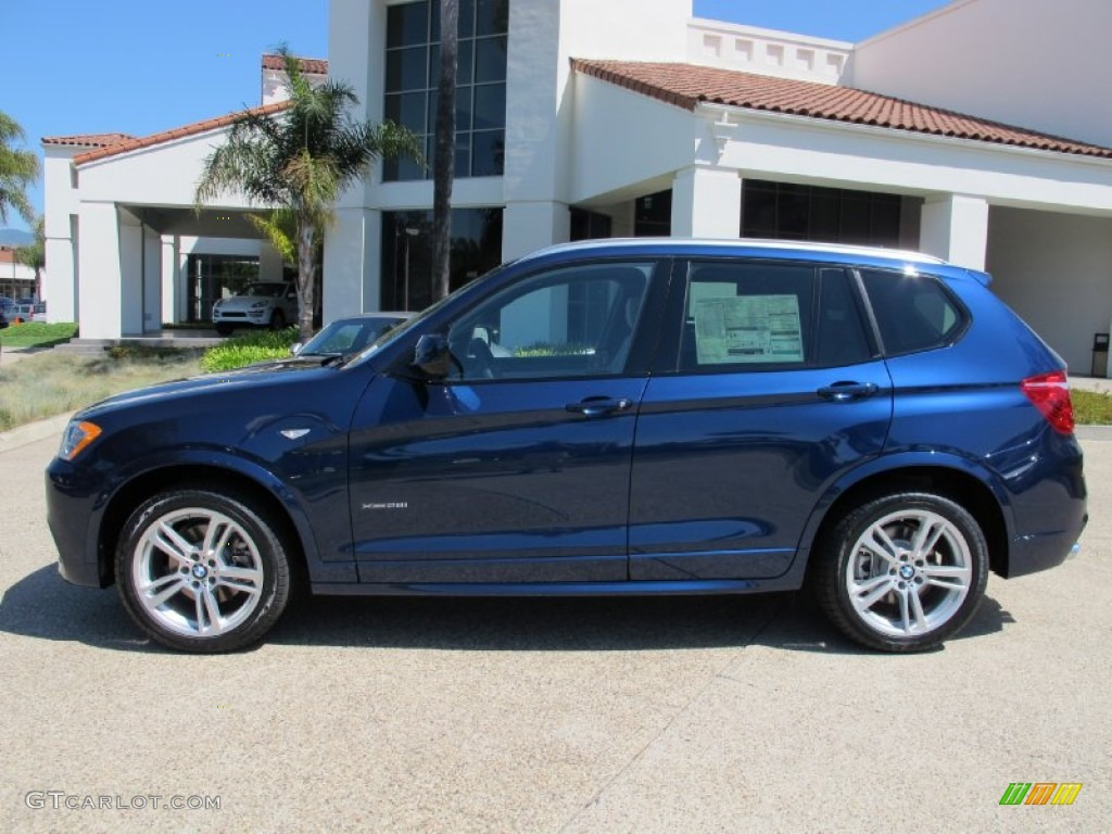 Deep Sea Blue Metallic 2013 Bmw X3 Xdrive 28i Exterior