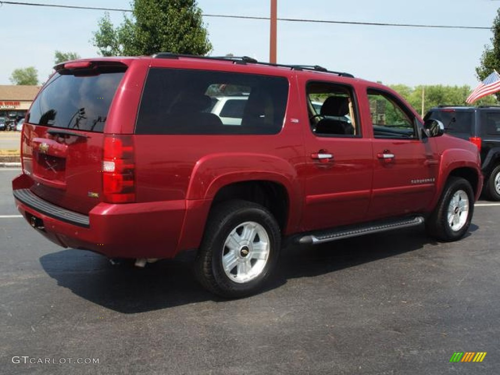 sport red metallic 2007 chevrolet suburban 1500 z71 4x4. Black Bedroom Furniture Sets. Home Design Ideas