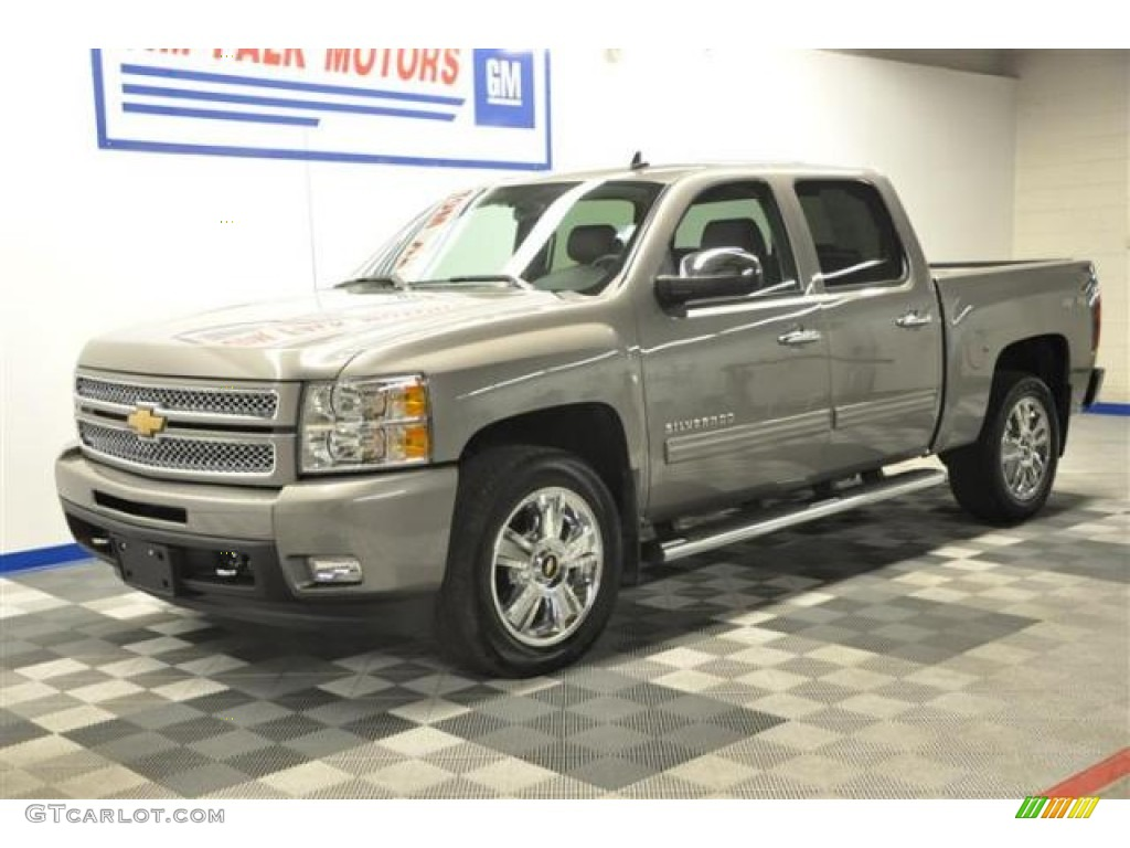 2012 Silverado 1500 LTZ Crew Cab 4x4 - Graystone Metallic / Ebony photo #1