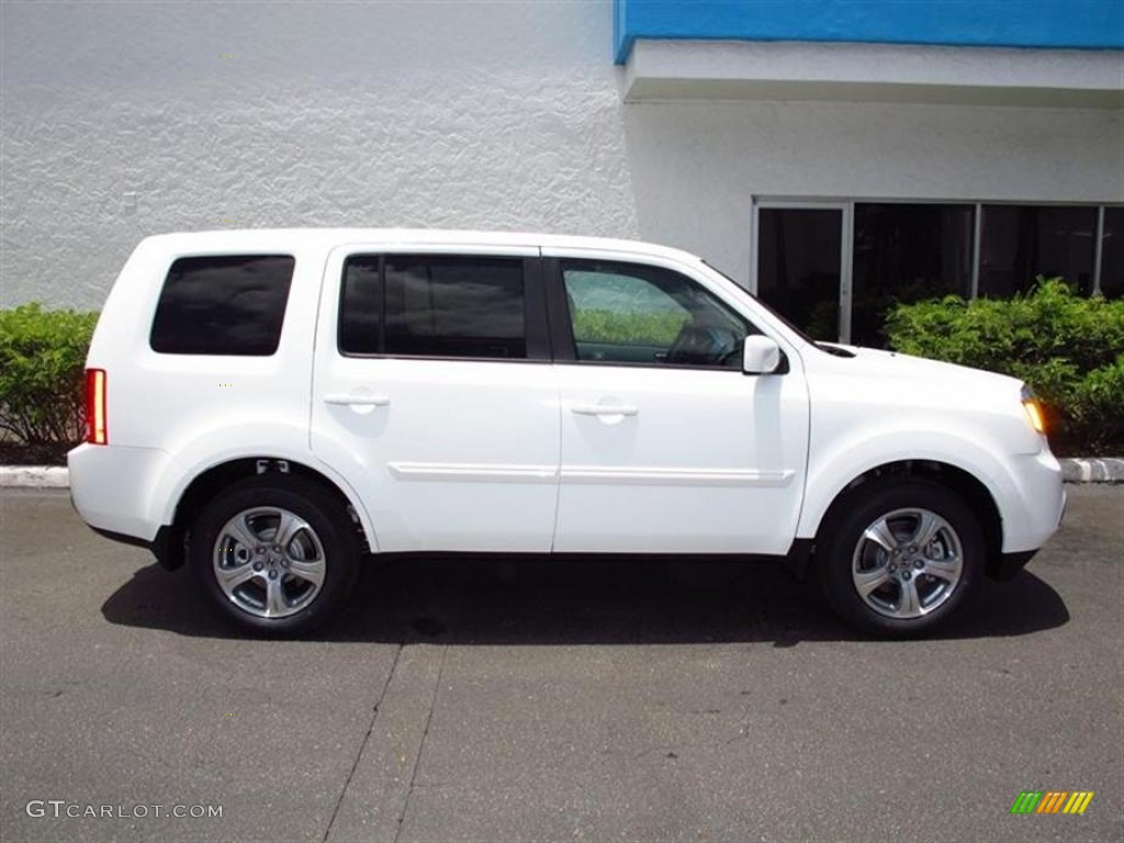 Taffeta White 2012 Honda Pilot Ex L Exterior Photo