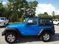 2011 Cosmos Blue Jeep Wrangler Rubicon 4x4  photo #2