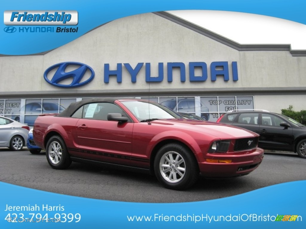 2007 Mustang V6 Premium Convertible - Redfire Metallic / Dark Charcoal photo #1