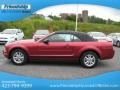2007 Redfire Metallic Ford Mustang V6 Premium Convertible  photo #2