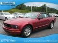 2007 Redfire Metallic Ford Mustang V6 Premium Convertible  photo #3
