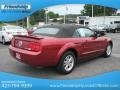 2007 Redfire Metallic Ford Mustang V6 Premium Convertible  photo #7
