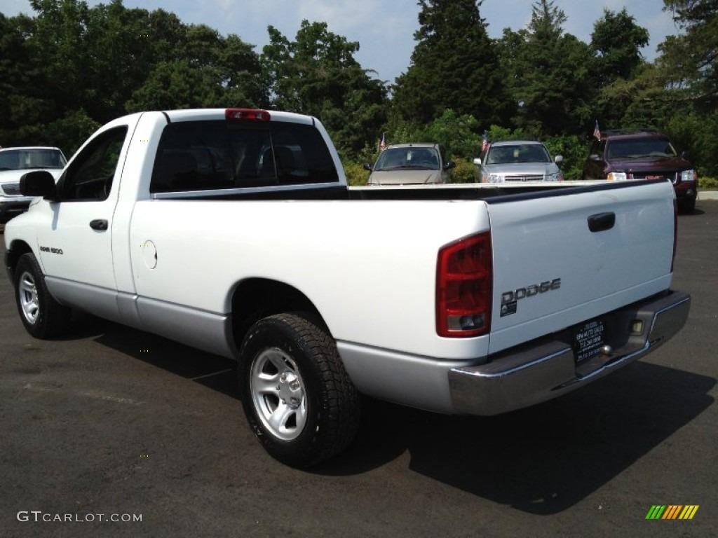 2002 Ram 1500 ST Regular Cab - Bright White / Dark Slate Gray photo #9
