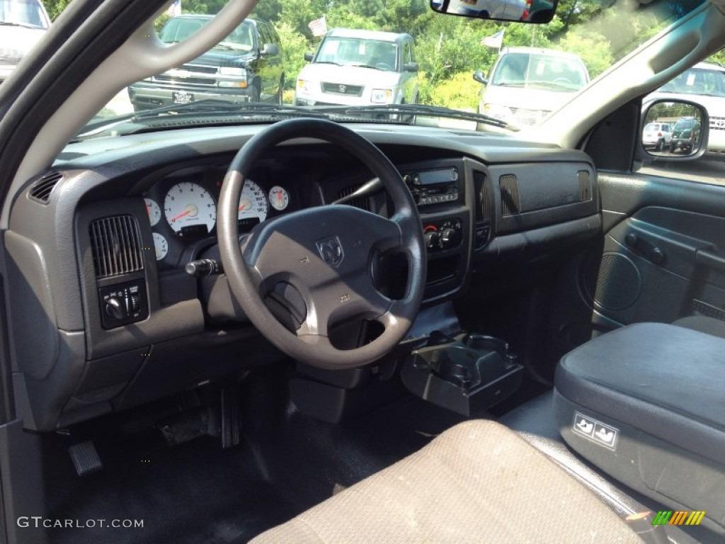 2002 Ram 1500 ST Regular Cab - Bright White / Dark Slate Gray photo #14
