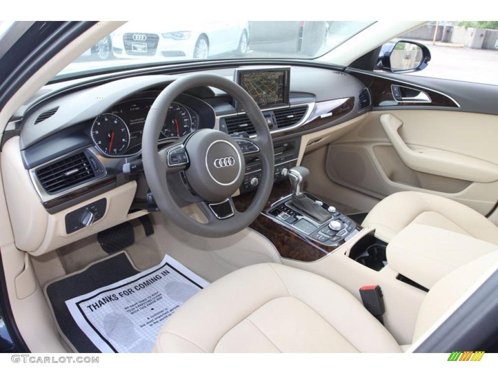 Velvet Beige Interior 2013 Audi A6 3 0t Quattro Sedan