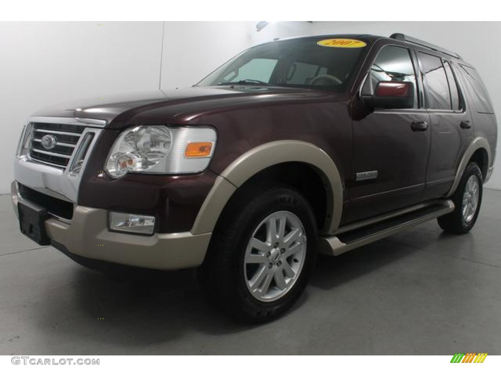 Dark Cherry Metallic 2007 Ford Explorer Eddie Bauer 4x4 ...