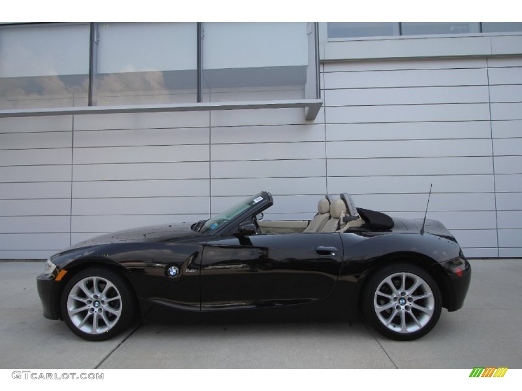 jet black 2006 bmw z4 roadster exterior photo. Black Bedroom Furniture Sets. Home Design Ideas