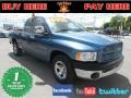 2002 Atlantic Blue Pearl Dodge Ram 1500 ST Quad Cab  photo #1