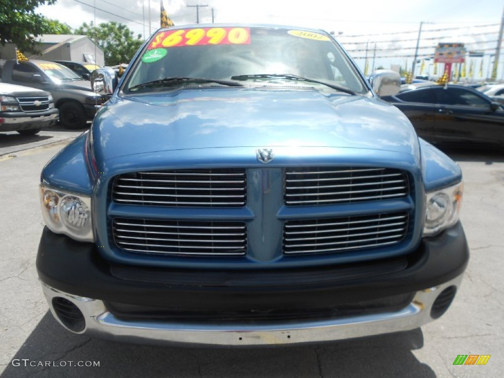 2002 Ram 1500 ST Quad Cab - Atlantic Blue Pearl / Dark Slate Gray photo #2