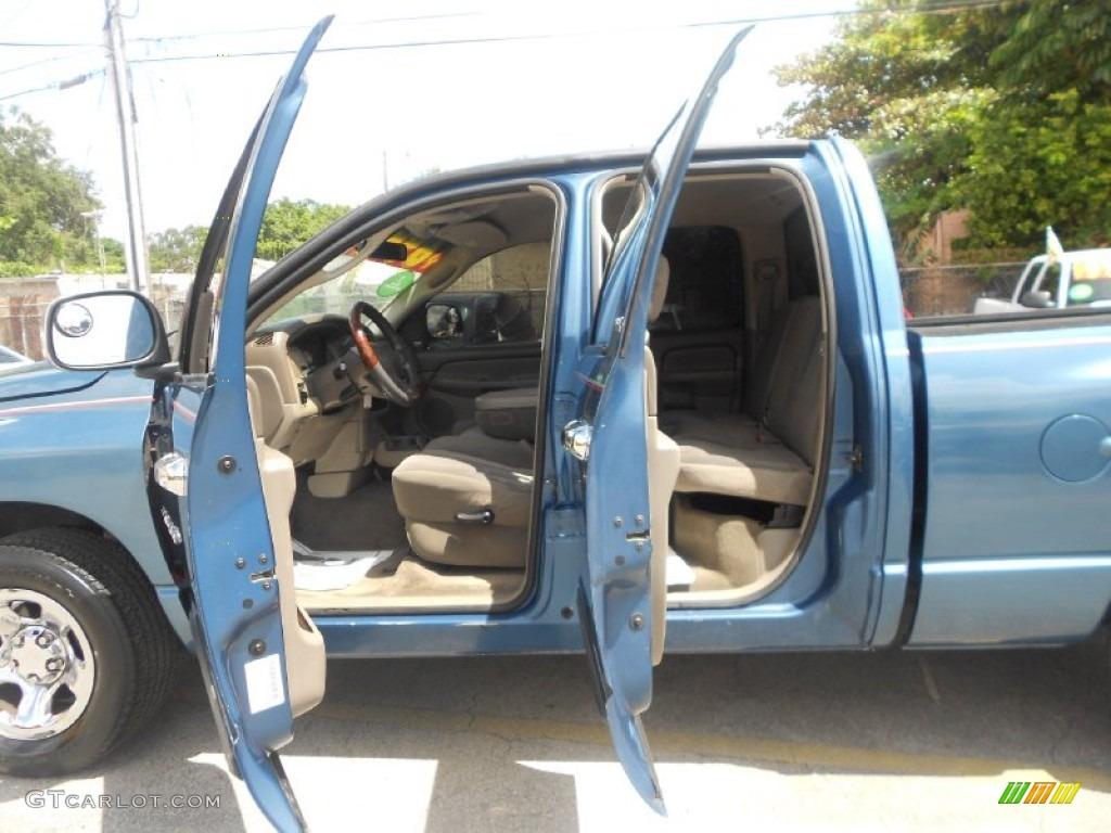 2002 Ram 1500 ST Quad Cab - Atlantic Blue Pearl / Dark Slate Gray photo #15