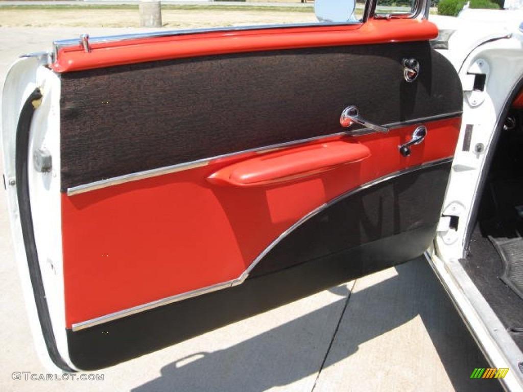 1957 chevrolet bel air 2 door sedan red black door panel for 1955 chevy bel air door panels