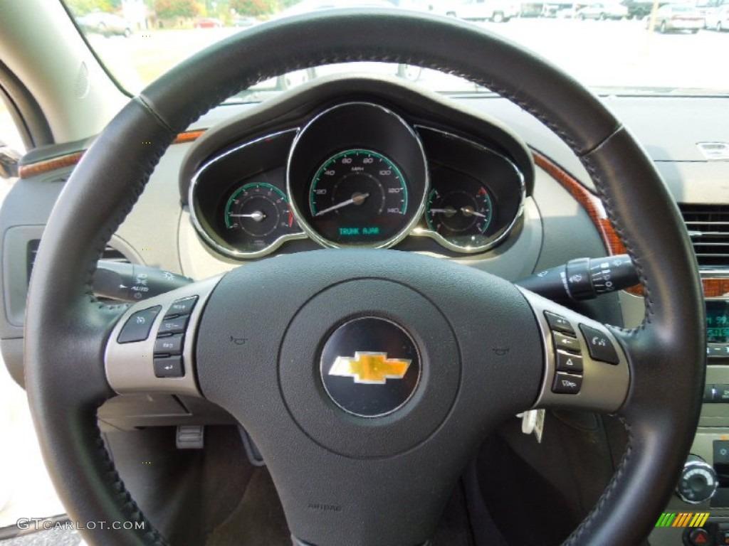 2011 Chevrolet Malibu Ltz Ebony Steering Wheel Photo