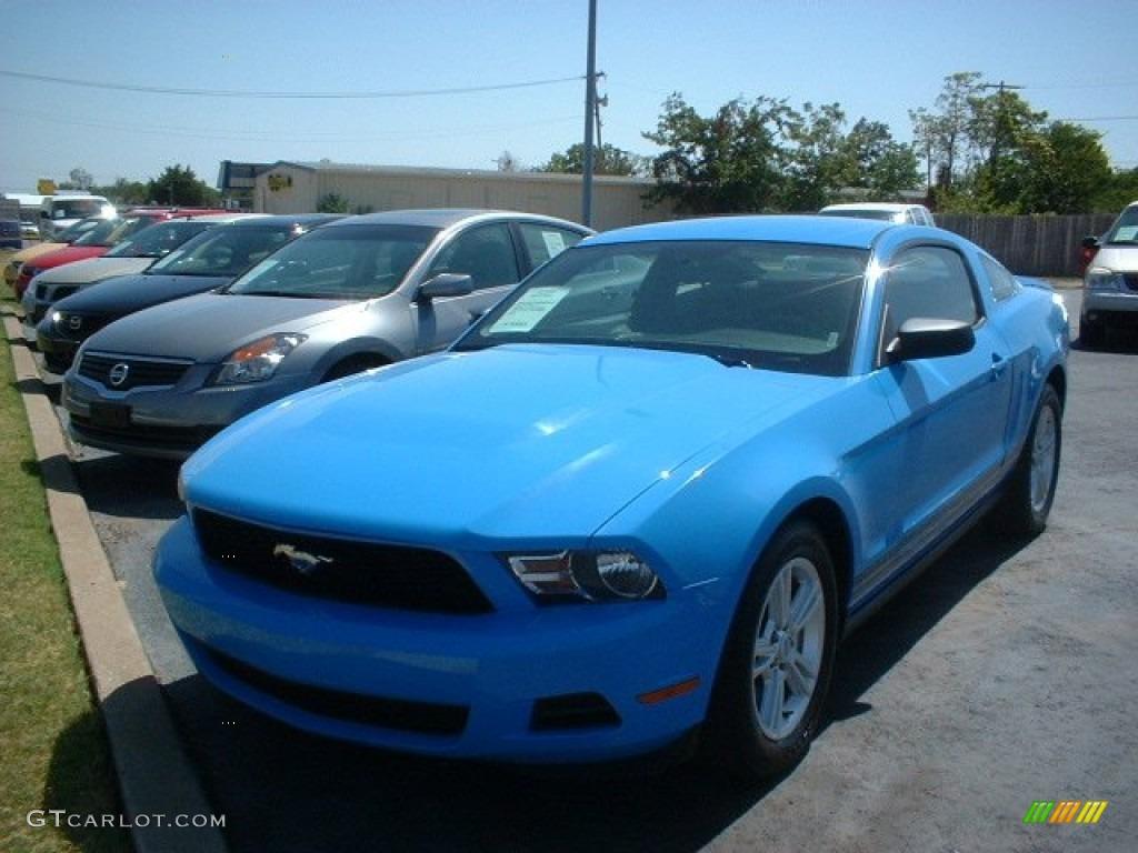 2011 Mustang V6 Coupe - Grabber Blue / Charcoal Black photo #1