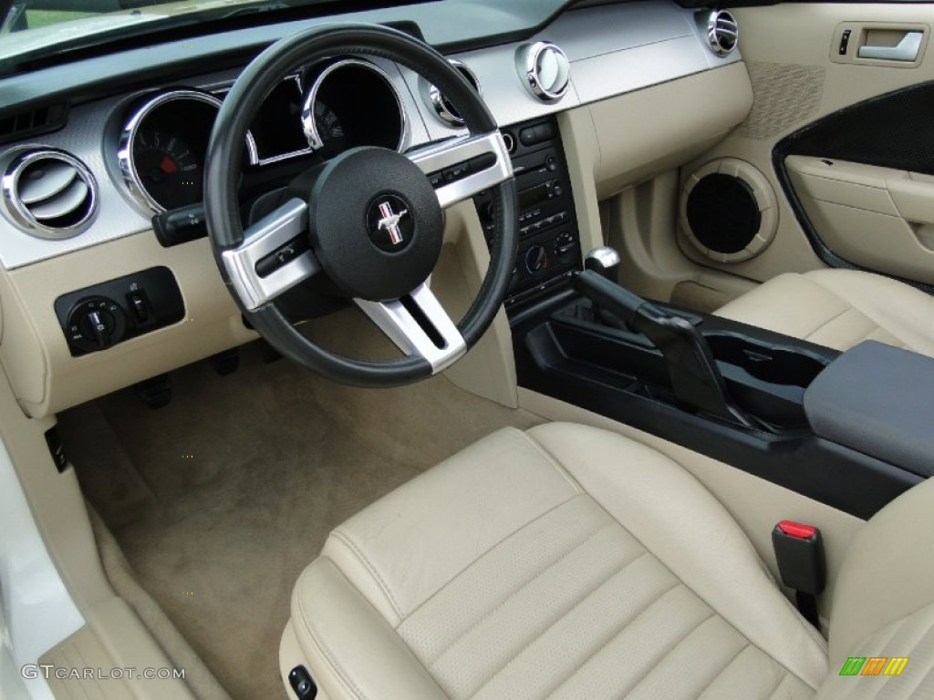 Light Parchment Interior 2006 Ford Mustang Gt Premium Convertible Photo 68985956